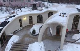Монолитные дома необычной формы